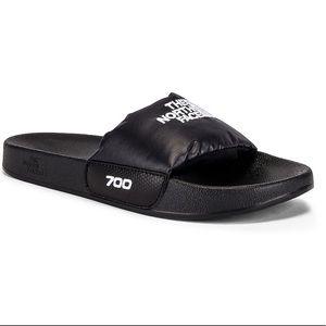NWOT The North Face Nuptse 700 slides sandals